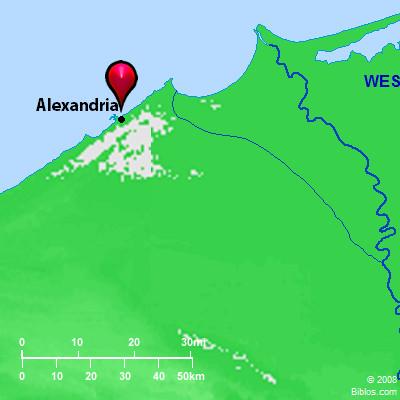 Bible Map Alexandria