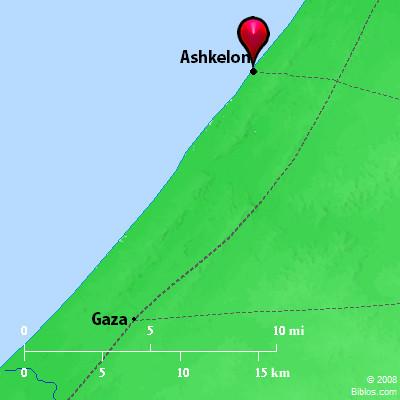 Bible Map Ashkelon