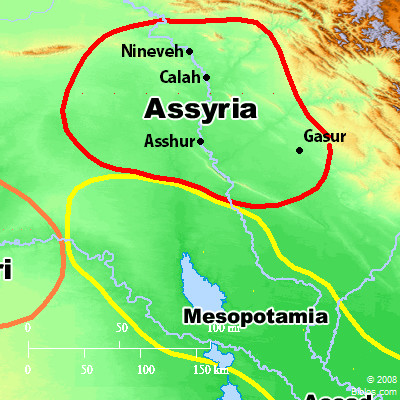 bible map assyria