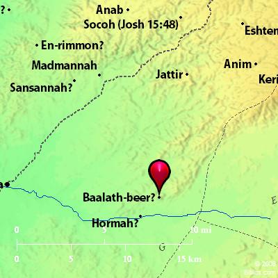 Bible Map Bethel 2 Baalathbeer