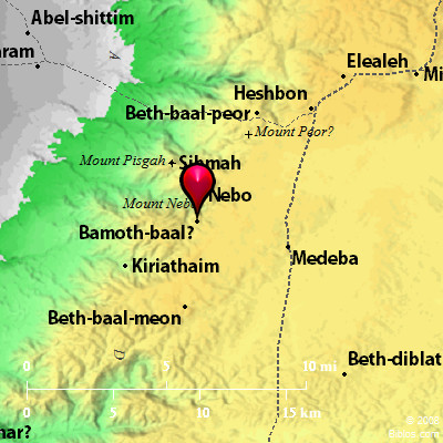Bible Map Bamoth Baal