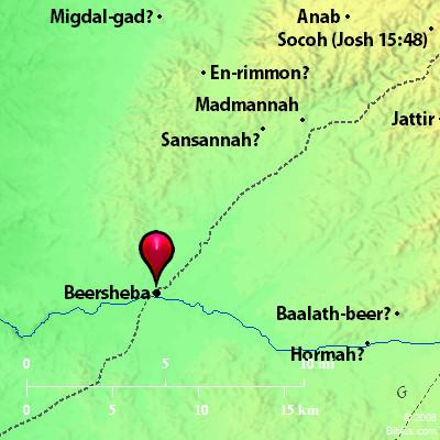 Bible Map Beersheba