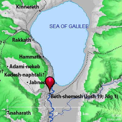 Bible Map En Hakkore Beth Shemesh