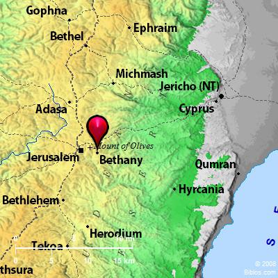Bible Map Bethany