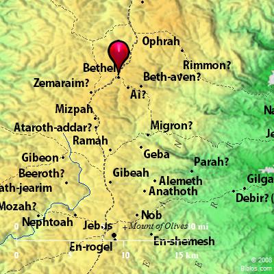 Bible Map Bethel