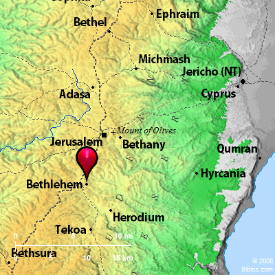 Map Of Bethlehem Bible Map: Bethlehem