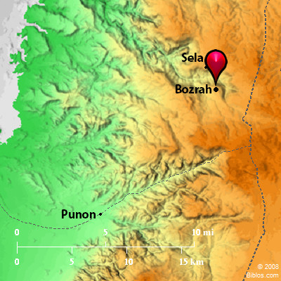 bible map mount seir bozrah