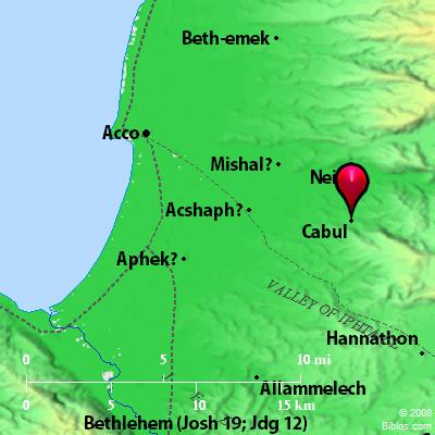 Bible Map Aphek