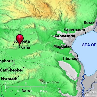 Bible Map Cana