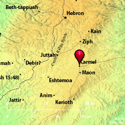 Bible Map Carmel