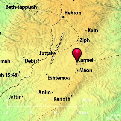 Bible Map: Carmel on