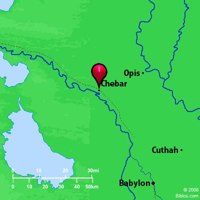 Bible Map: Chebar on west branch ausable river map, river ahava map, tigris river map, khabur river map, mesopotamia river map, kazan river map, red river anatolia map, euphrates river map, chebar river map,