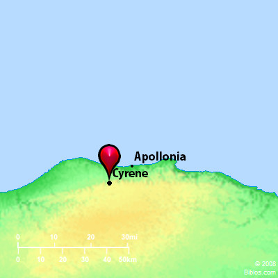 Bible Map: Cyrene