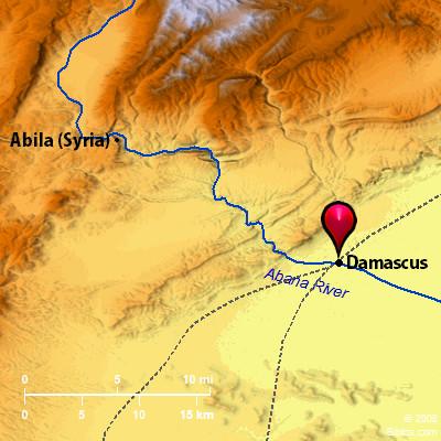 Bible Map: Damascus on libya map, umayyad mosque, medina map, sanaa map, amman map, constantinople map, asma al-assad, belgrade map, bashar al-assad, jordan map, aleppo map, ankara map, sinai peninsula map, syria map, euphrates river map, canaan map, muscat map, tyre map, beirut on a map, mecca map, jerusalem map, iraq map, persia map,