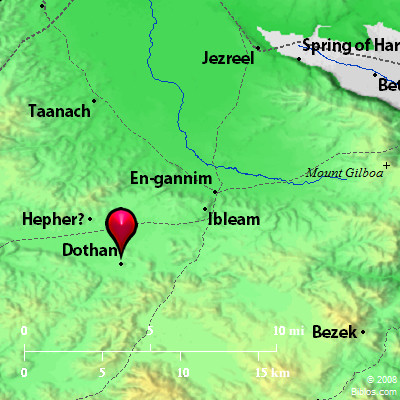 Bible Map Dothan