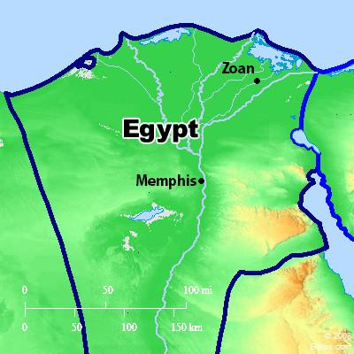 Bible Map: Egypt