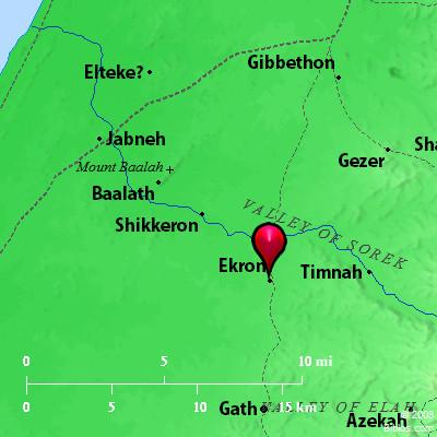 Bible Map Ekron