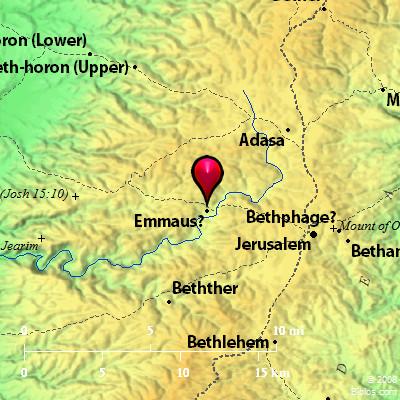 Картинки по запросу emmaus map jerusalem