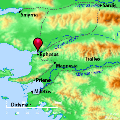 Bible Map Ephesus