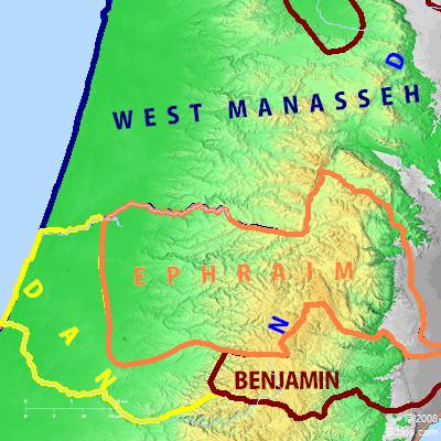 bible map ephraim