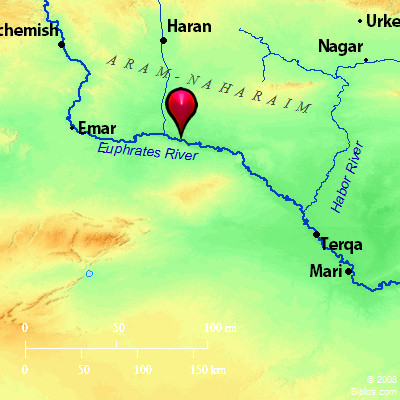 Middle East Map Euphrates River.Bible Map Euphrates River