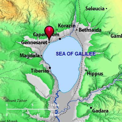 Bible Map: Genneseret