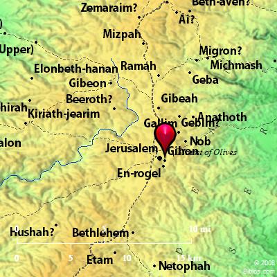 Bible Map: Gihon 2 (Gihon)