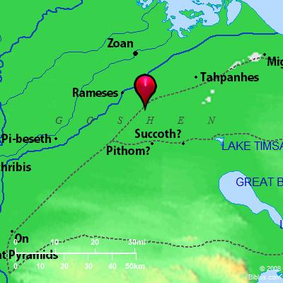 Bible Map Goshen - Map of egypt goshen