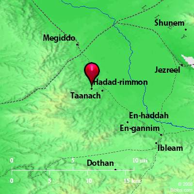 Bible Map: Hadad-rimmon