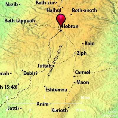 Bible Map Hebron