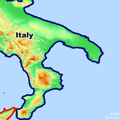 Map Of Italy And Surrounding Areas.Bible Map Italy