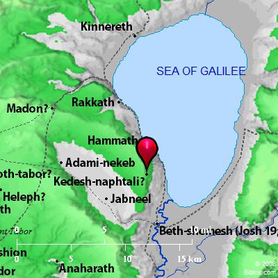 Bible Map: Kedesh-naphtali