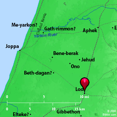 Bible Map: Lud (Lod) on map of dumah, map of magog, map of shinar, map of togarmah, map of hebrews, map of ishmaelites, map of cush, map of michmash, map of kingdom of kush, map of moreh, map of ham, map of aroer, map of japheth, map of aram, map of shem, map of nahor,