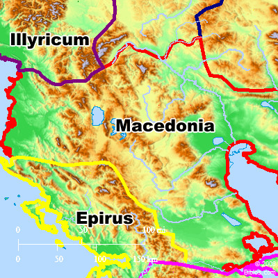 Bible Map Macedonia