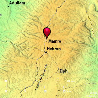 Bible Map Valley of Hebron Mamre