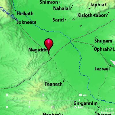 Bible Map Armageddon Megiddo