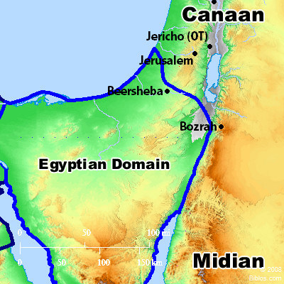Bible Map Midian - Map of egypt during exodus