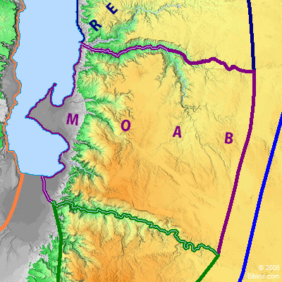 Bible Map: Moab