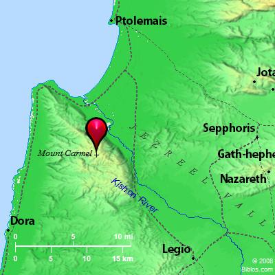 Bible Map Mount Carmel