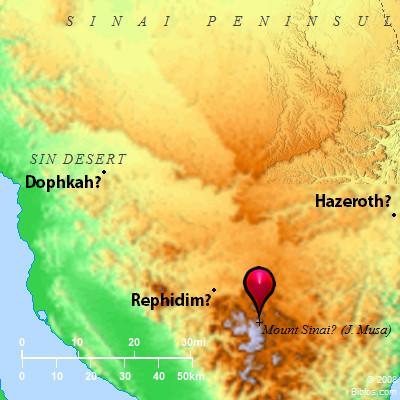Bible Map: Mount Horeb (Mount Sinai)