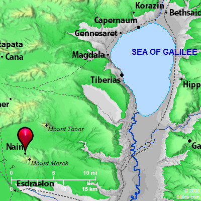 Map Of Nain Bible Map: Nain