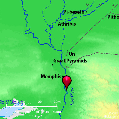 Bible Map Nile River - Nile river location on world map