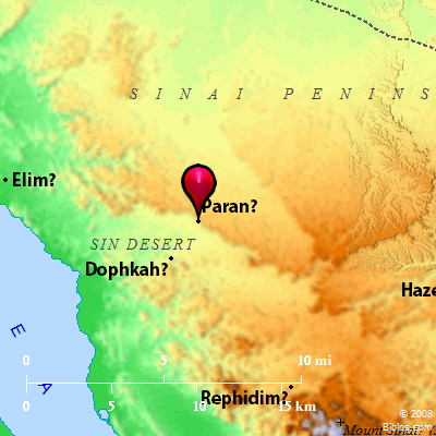 desert of paran map Bible Map Paran desert of paran map