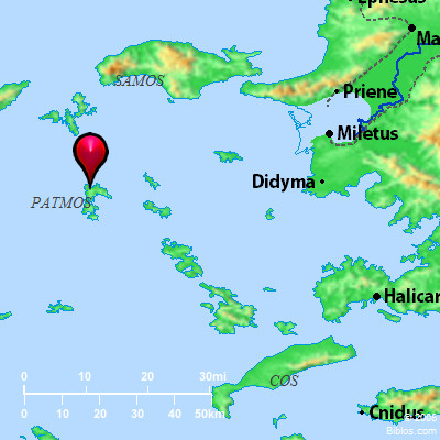 Bible Map Patmos