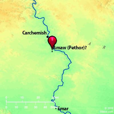 Bible Map: Pethor