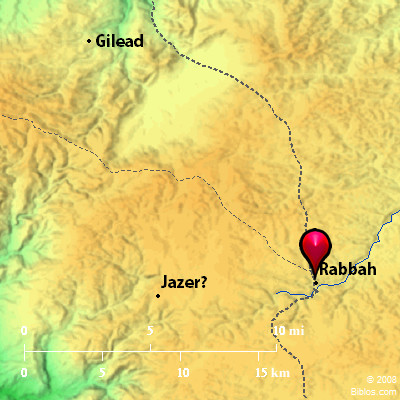 Bible Map Rabbah