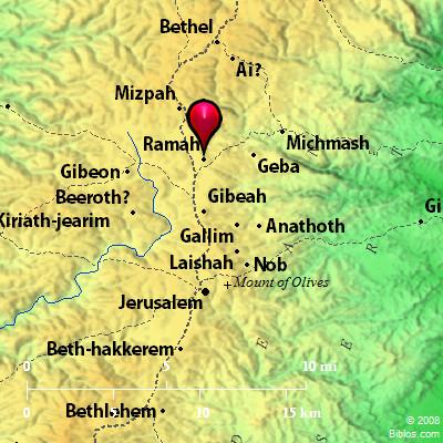 Bible Map: Ramah