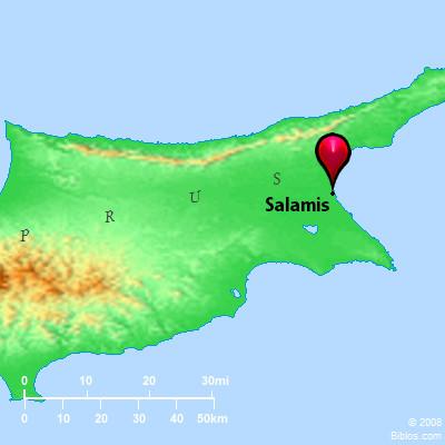 Bible Map Salamis