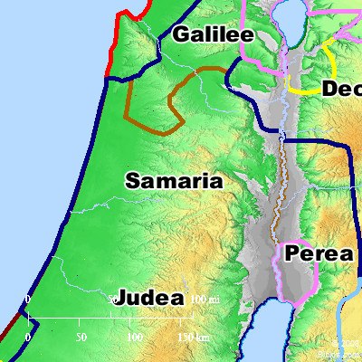 Bible Map: Samaria