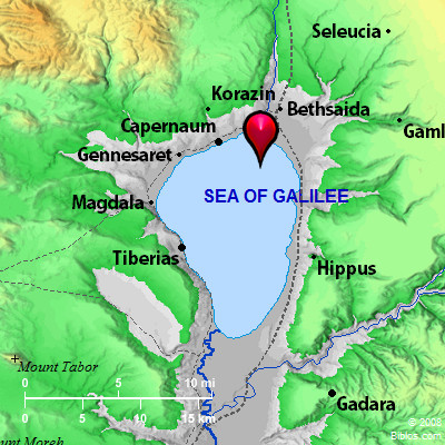 Image result for Map of Sea of Galilee in time of Christ